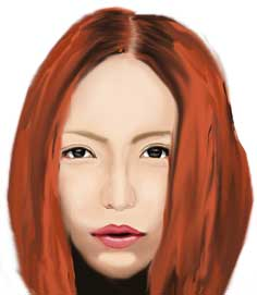 安室奈美恵,似顔絵