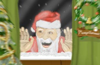 サンタクロースの絵