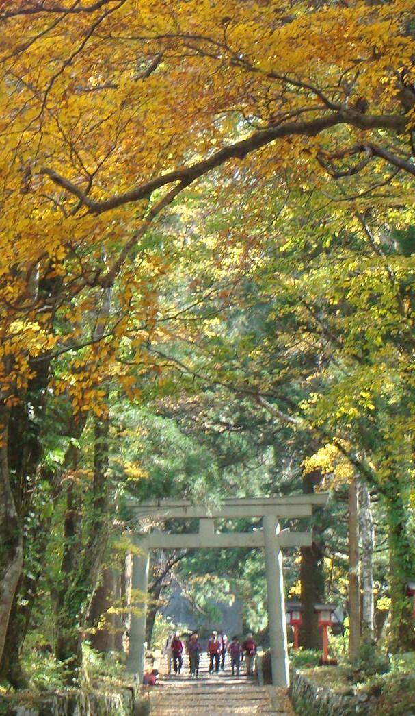 大神山神社への石畳