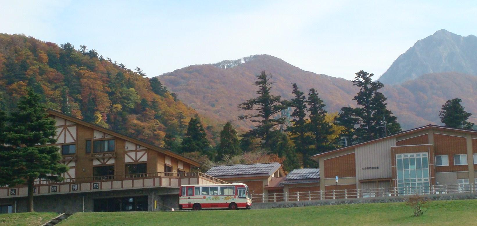 大山寺の駐車場から、