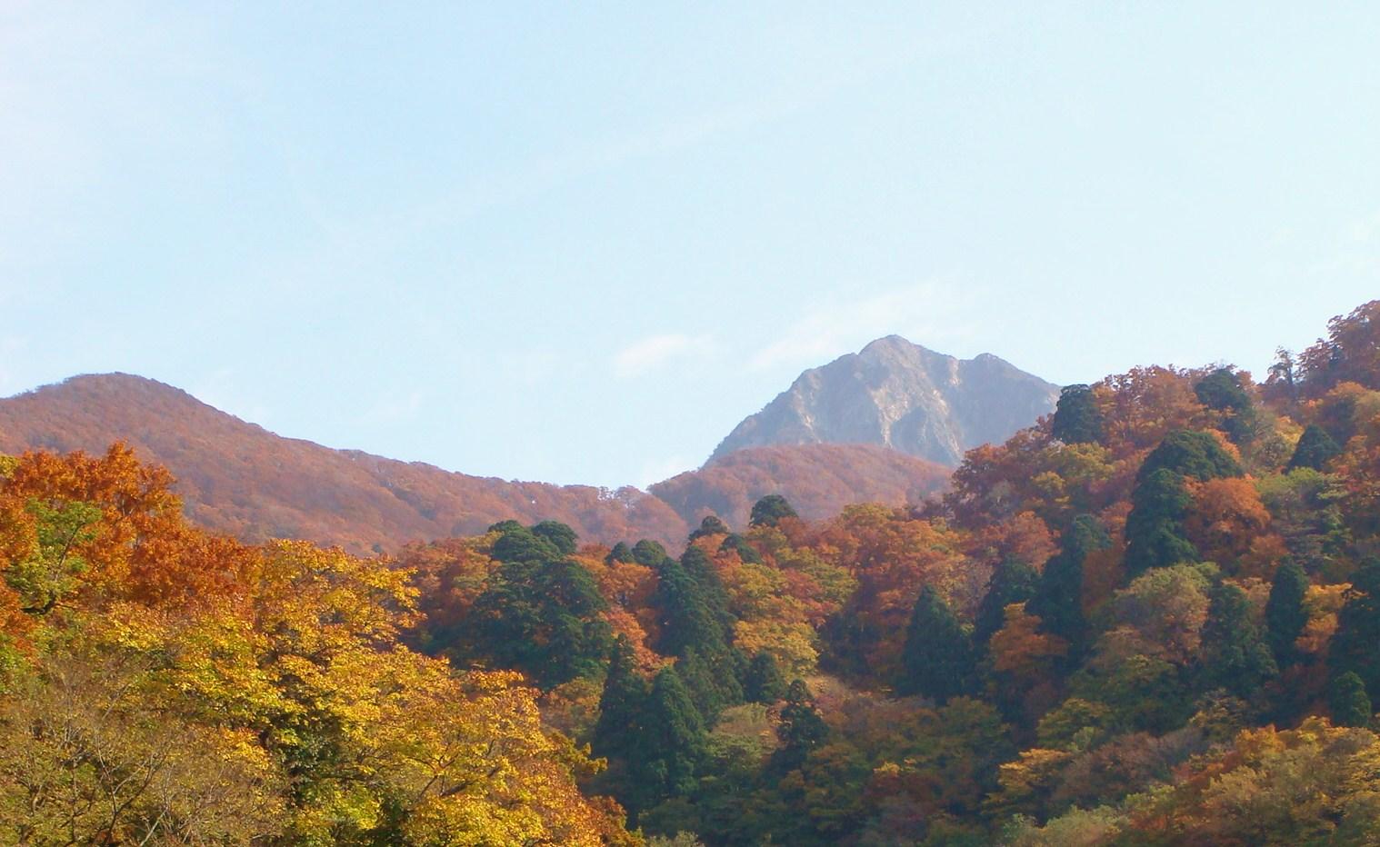 大山寺橋から望む大山