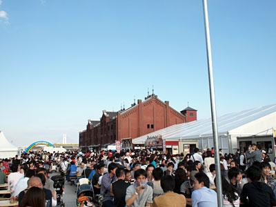 横浜赤レンガ オクトーバーフェスト2010の会場
