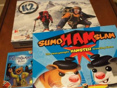 『ハムスター大相撲』『カッツェンジャマーブルース』『K2』