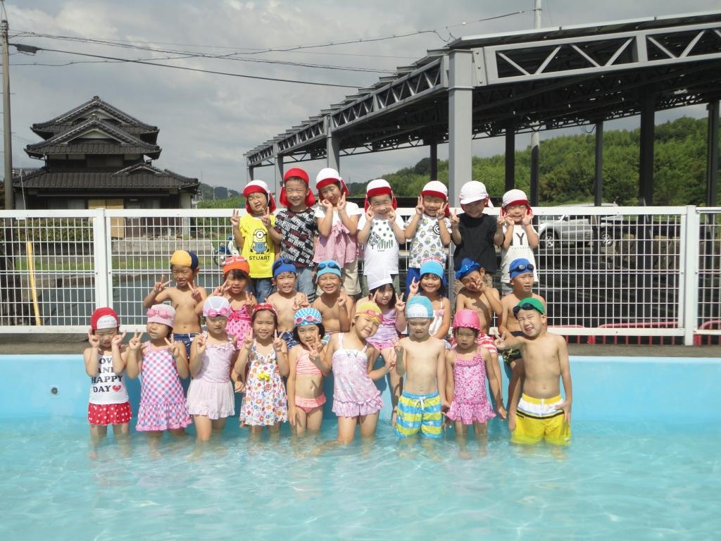 開き 保育園 プール