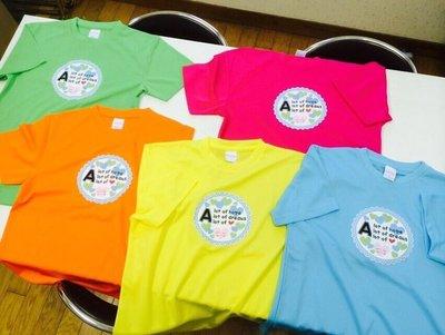 Tシャツは5色から選べます!