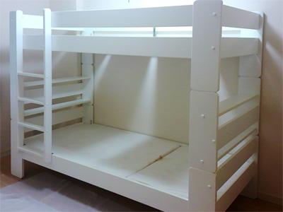 フィンランド・Sieva社の白い二段ベッド