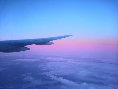 北極圏上空