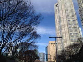 20120103新宿へ向かう空11