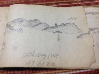 1947年父の航海スケッチ日付入り