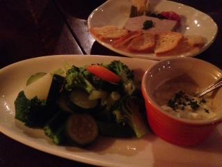 20120610DIMPLE温野菜のタルタルと白レバーパテ