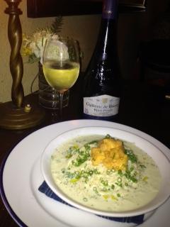 20120710DIMPLE白ワインとウニクリームパスタ3