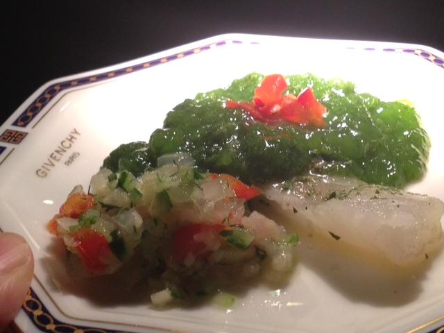 20120814送別会晩餐部分メニュー真鯛パセリソース3