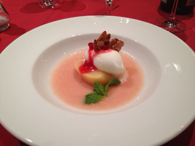20120817夕食桃のスープ