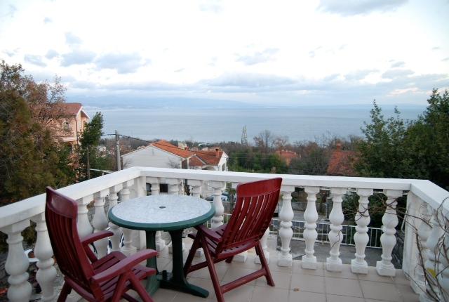 20080102クロアチアのザラフィアンツ先生の家のルーフバルコニー