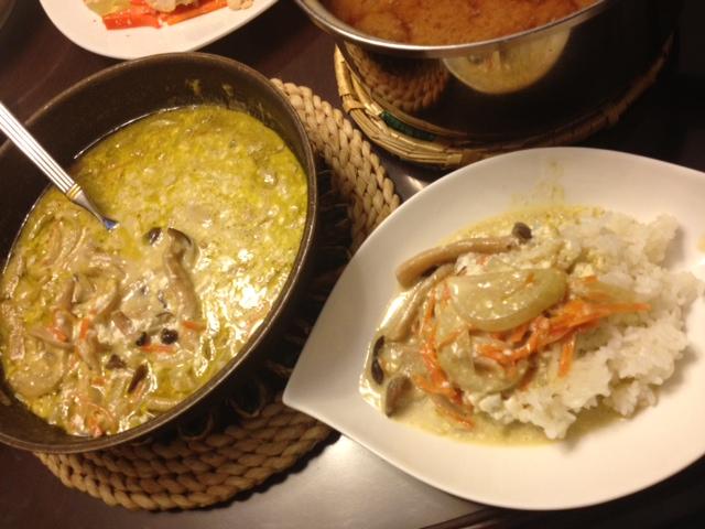 20121010深夜ご飯04グリーンカレー
