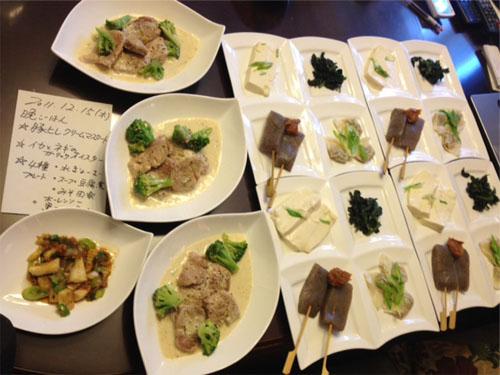 20111215豚ヒレ肉のクリームお肉4種プレート 小