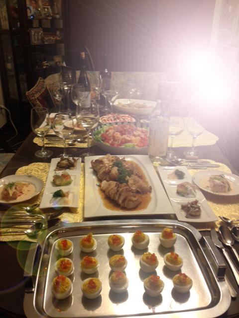 20131217友樹也ご友人おもてなし料理24逆光