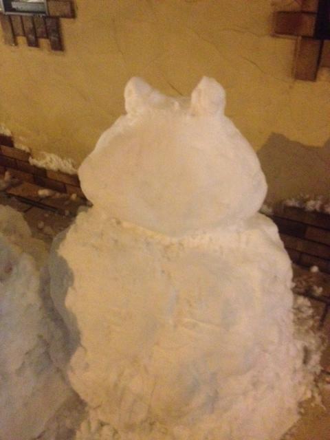 20140208しろいかばさん雪だるま01
