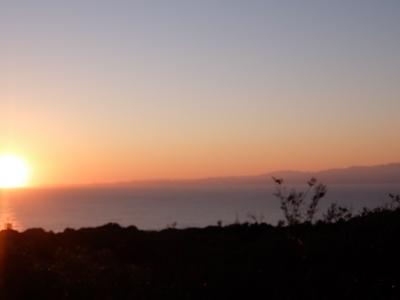 20161103大島夕陽
