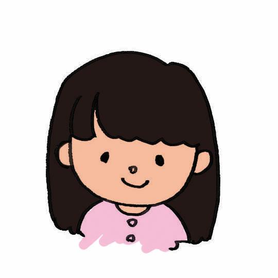 女の子顔イラスト素材