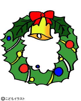 クリスマスイラスト素材リース