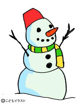 クリスマスイラスト素材雪だるま
