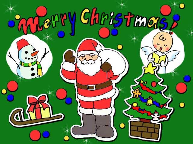 無料イラスト素材クリスマスカード