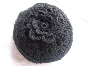 立体花 ブラック