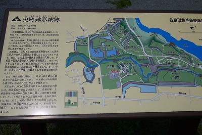 鉢形城跡の図