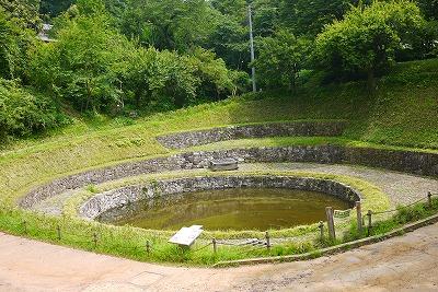 金山城 日の池