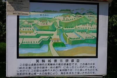 箕輪城跡図