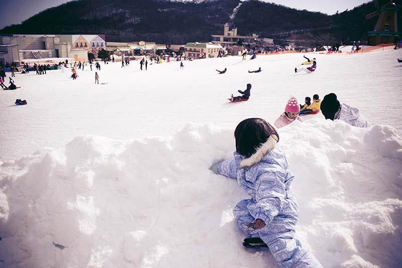 雪あそび,そり
