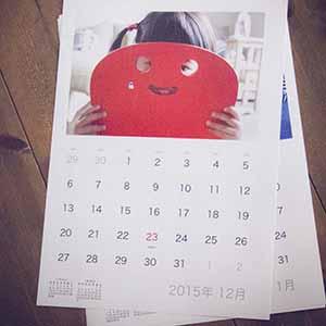 カレンダー 写真 自作