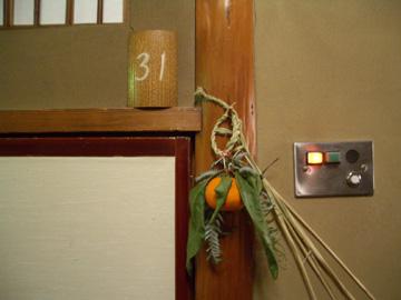 部屋の入口の飾り