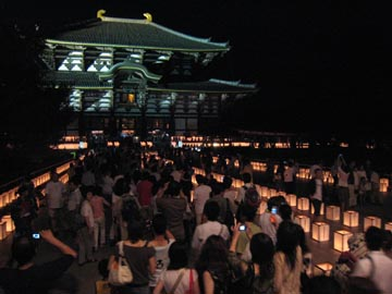 東大寺の光る角