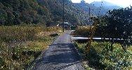 田園地帯を歩く