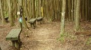 三合目のベンチ