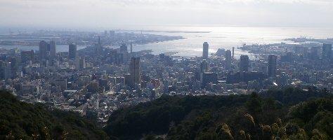 市章山山頂からの眺望