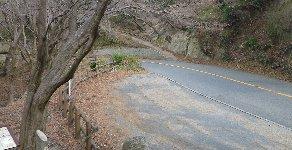 正面の山道へ…