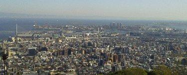 金鳥山展望所からの眺望
