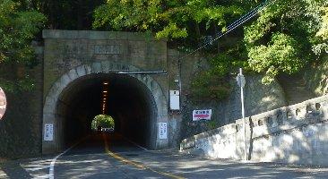 今日はトンネルを直進