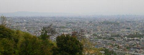 大阪平野〜生駒山方面