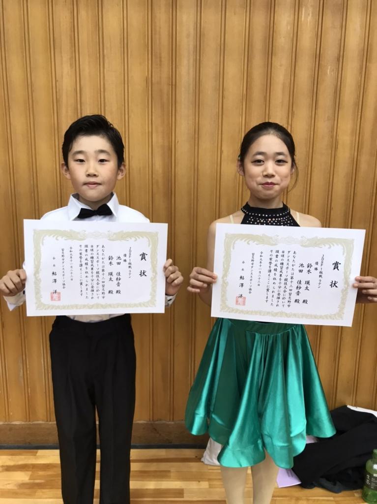 20191123 鈴木瑛太・池田佳紗音組 優勝