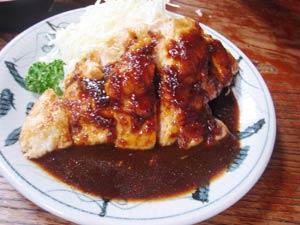 若鶏の生姜焼き