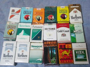 でてきたいろんなタバコ