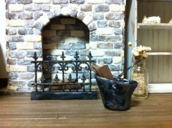 1/6ドールハウス ブライス momoko クリスマス 暖炉