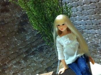 1/6 ドールハウス momoko ブライス レンガ 背景