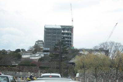 只今姫路城平成の大修理中