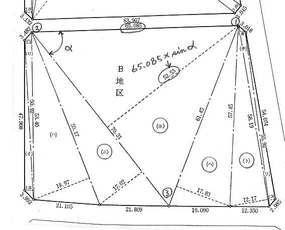 面積計算(地積測量図) | 日曜土木検史郎参上