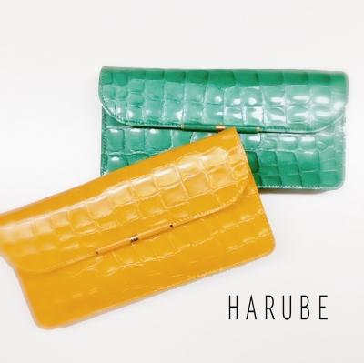 はるべ Harube  エナメルクロコ L字 財布